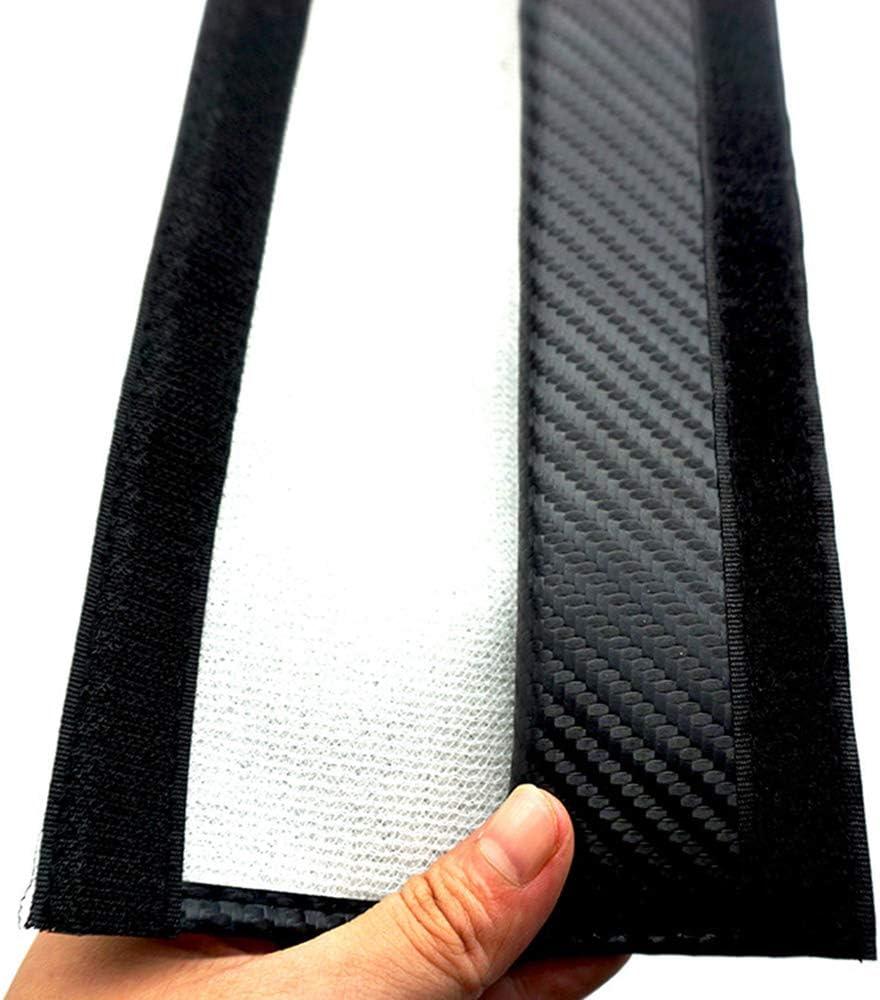 TDPQR 2 Piezas Almohadillas para Cintur/ón de Seguridad Coche Bordado con Marca de Logo Protectores de Coche Hombro para Fiat 500x Coche Estilo Interior Accesorios