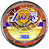 NBA Los Angeles Lakers Chrome Clock