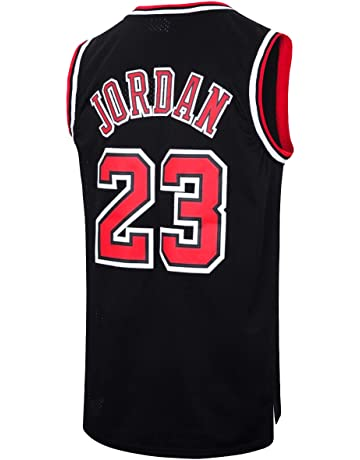 ba59d9c1 RAAVIN Legend Mens #23 Basketball Jersey Retro Athletics Jersey Red White  Black/Strip S