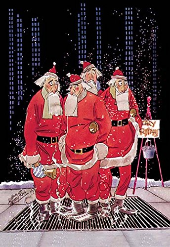 (Buyenlarge Salvation Army Santas Try to Keep Warm Standing on Sidewalk Grating - 16