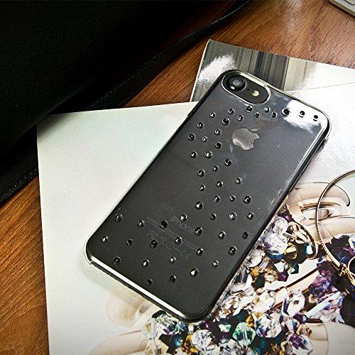 Bling-My-Thing iP7-mw-cl-blk Milky Way Serie Luxuriöses und einzigartiges Design veredelt mit original Swarovski Kristallen, modisches Case für Apple iPhone 7 Starry Night