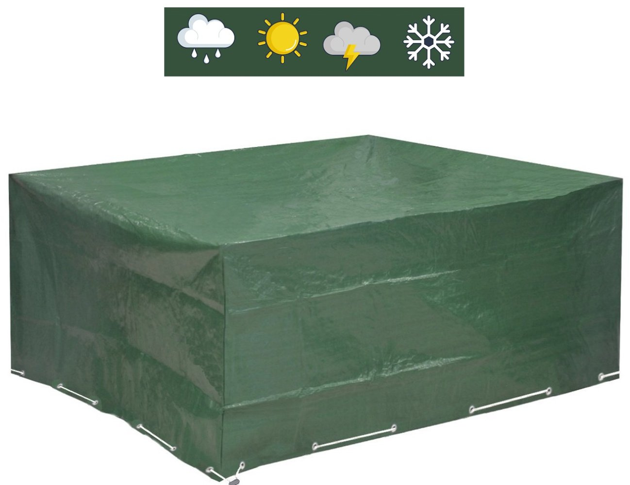 Garden Furniture Covers 250x210x90 - COMPARISON WINNER 2018* - Patio Cover Waterproof Protection against Wind and Weather - Protective Garden Furniture Cover for square Garden Tables and Protective Cover for Garden Lounge by GloryTec