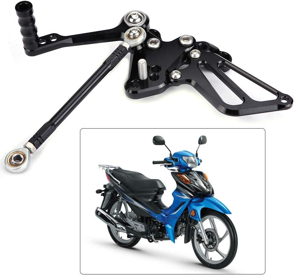 Qiilu Aluminum Footrest Motorcycle Adjustable Rear Sets Foot Pegs Footrest for DUCATI 848//848EV0 2008-2013