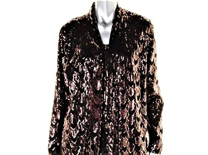 b43fde9fd2 NIPON BOUTIQUE $149 Womens BLACK with GOLD SEQUINED Mesh 2PC Twinset ...