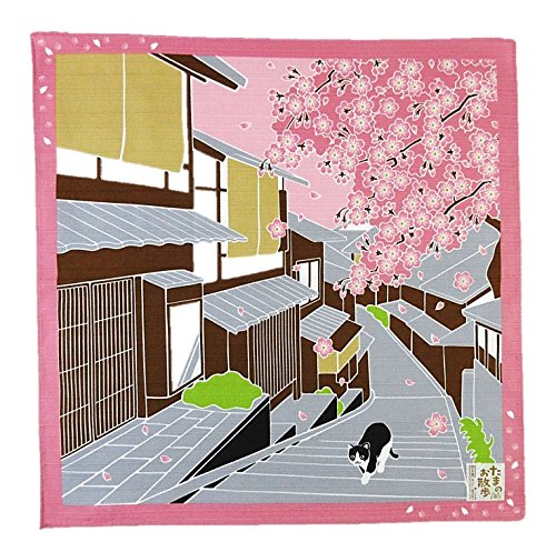 FUROSHIKI- Japanese Wrapping Cloth (Traveling-cat : SAKURA)