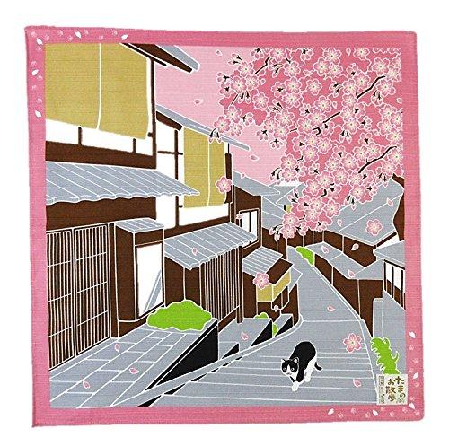FUROSHIKI- Japanese Wrapping Cloth (Traveling-cat : SAKURA)