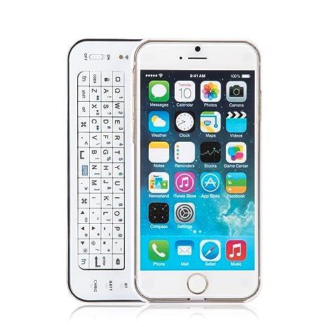 innext Ultra-thin slide-out retroiluminación carcasa con teclado Bluetooth deslizante QWERTY teclado Bluetooth