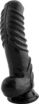 TSX Foreskin Fucking Good Dong - Dildo in Penis Form mit Vorhaut - 20 cm lang - Durchmesser bis 5.5 cm, schwarz