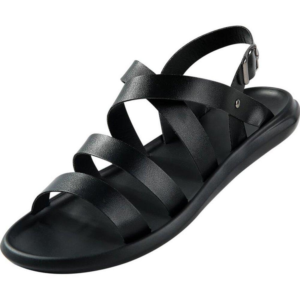 GAOLIXIA Herrenschuhe PU Sommer Komfort Sandalen Wanderschuhe für Casual Weiß Schwarz Gelb Weiß Casual Braun (Farbe   schwarz, Größe   40) b702cb