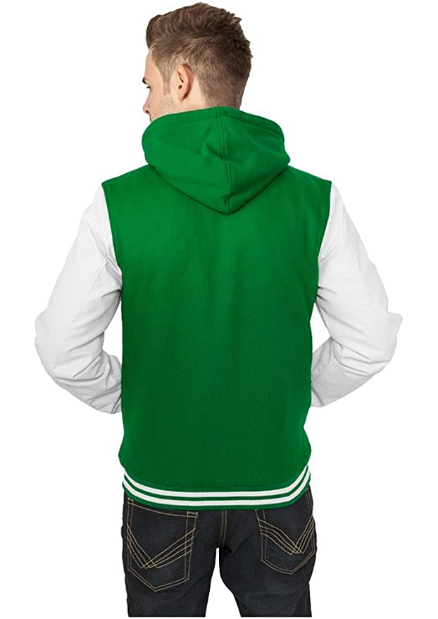 TB438 Hooded Oldschool College Jacket Herren Outdoor Jacke Kapuze:  Amazon.de: Bekleidung