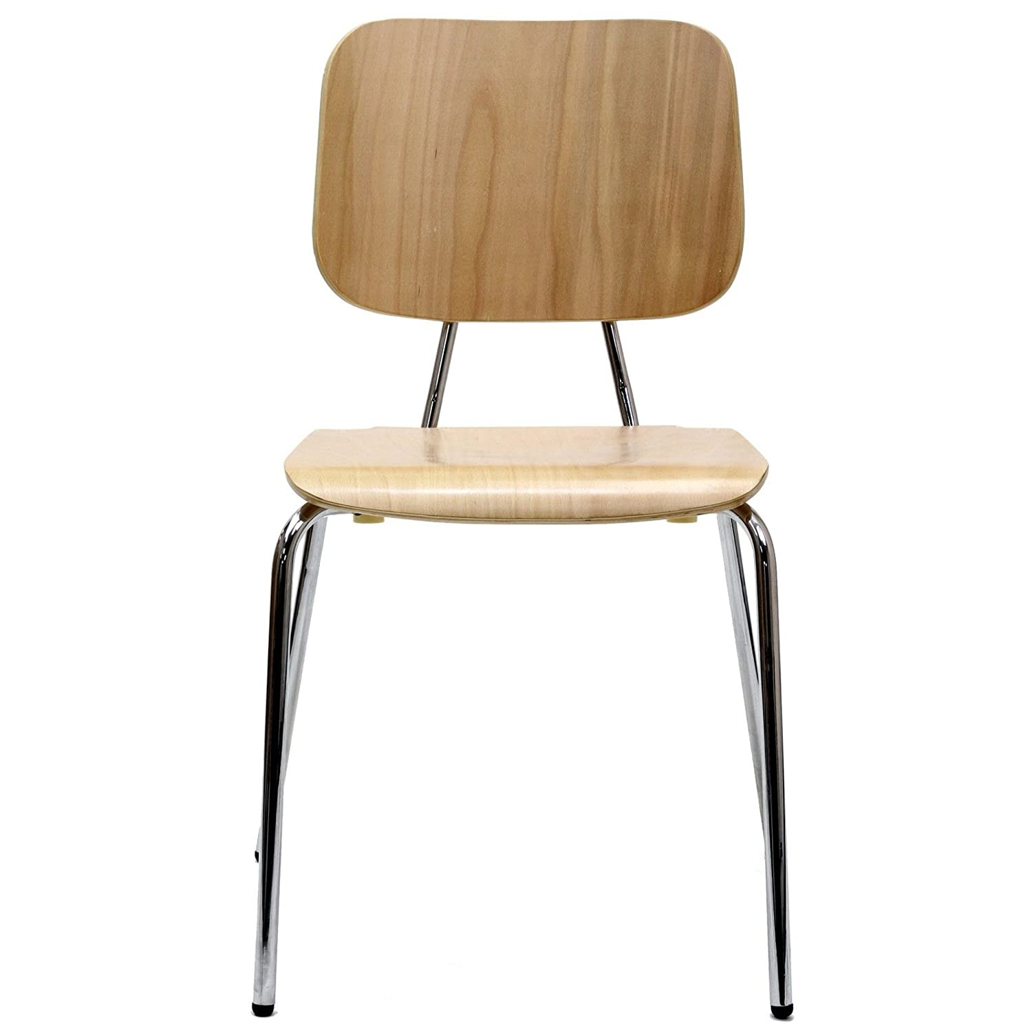 Amazon Modway Motive Molded Plywood Dining Chair with Metal