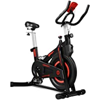 OneTwoFit Indoor Exercise Bike with Monitor,Adjustable Seat & Handlebars Cycling Spinning Bike for Home Cardio Workout…