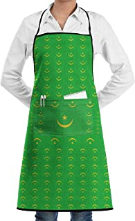 Mauritania Flag Bib Apron Chef Apron - with Pockets For Men And Women Prossional Gardening Gifts
