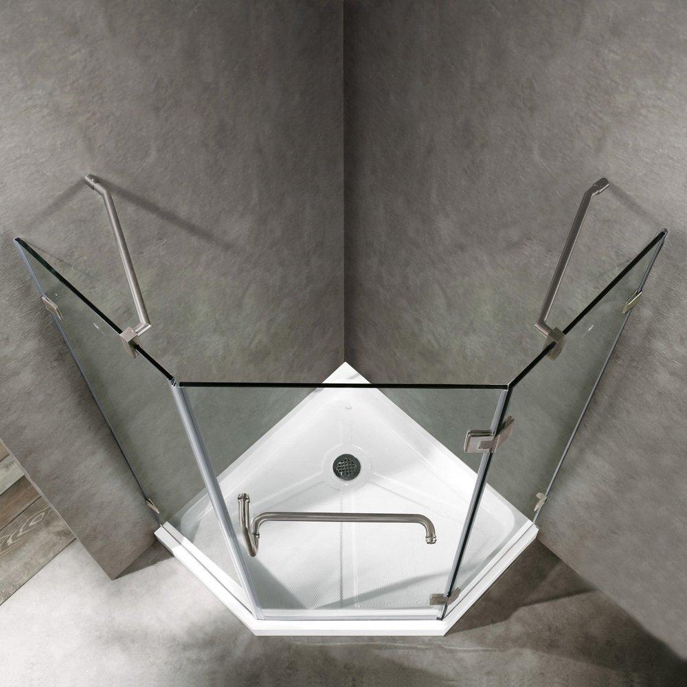 Vigo Piedmont 36 X 36 In Frameless Neo Angle Shower Enclosure With