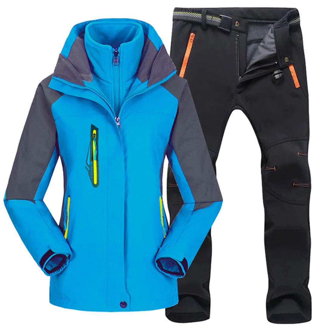 Frauen im Freien Winterwandern Skifahren wasserdichte Jacken Warme Angeln Trekking Ski Jacket + Pant