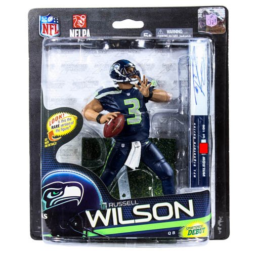 McFarlane Sportspicks: NFL Series 33 Russell Wilson Seattle Seahawks 6 inch - Premiere Variant Action Figure by Mcfarlane Toys