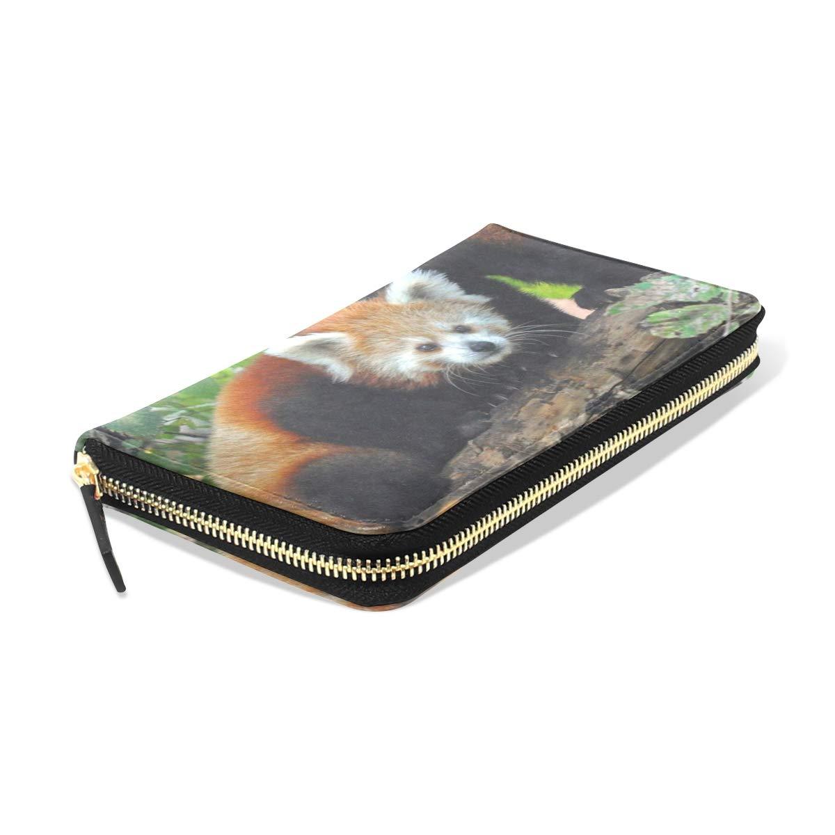 Womens Wallets Panda Mother Cub Leather Passport Wallet Coin Purse Girls Handbags