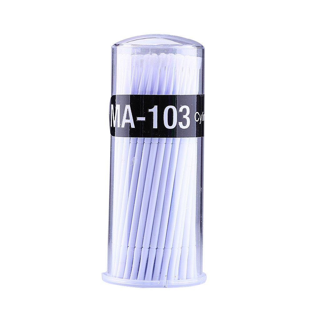 100pcs Disposable Micro Brushes, Dental Oral Applicators Eyelash Extension Mascara Brush (Head Diameter :1.2mm) GLOGLOW