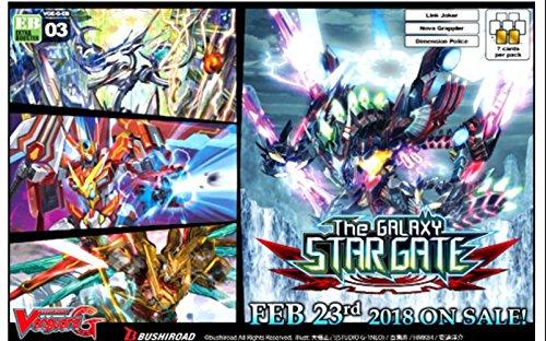 Cardfight Vanguard vge-g-eb03 Il Galaxy Star Gate Booster Box (12 Confezioni da 7 Carte), Multicolore