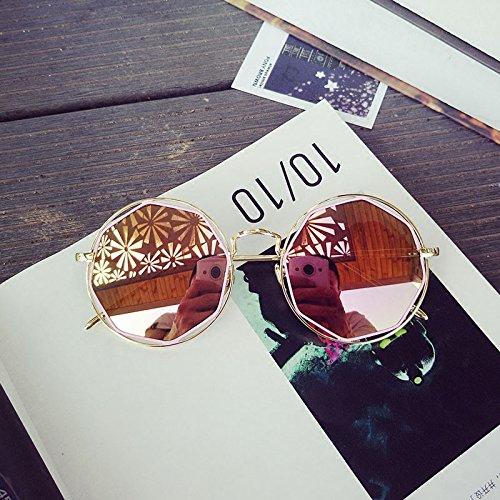 Sunyan Nouveau mode femmes lunettes de soleil classic tout à tous Métrosexuel cadre métallique creux wafer lunettes,mercure blanc