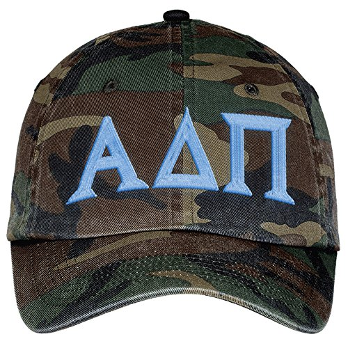 (Alpha Delta PI Lettered Camouflage Hat Military Camo)