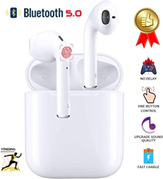 Auriculares Bluetooth 5.0 Inalámbricos Sonido Estéreo 3D Inalámbricos Auriculares para Trabajo y Deportes Viaje Pop-Up Auto Pairing IPX7 Impermeables para Android/iPhone/Apple Airpods Pro: Amazon.es: Electrónica