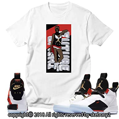 b9a4a800bf2117 Custom T Shirt Matching Style of Air Jordan 33 XXXIII Future Flight JD  33-1-1 at Amazon Men s Clothing store