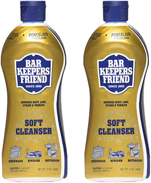Bar Keepers Friend Limpiador suave (13 oz – Inglés/Español ...