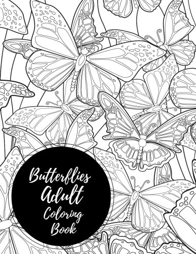 Butterflies Adult Coloring Book Relaxation product image