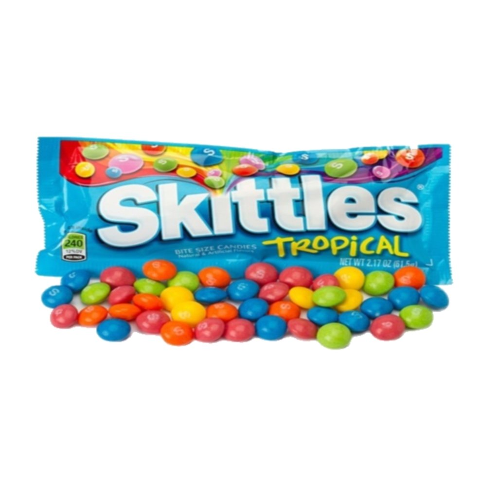 All American Skittles (Tropical 2.17 Oz, 8 Pack)