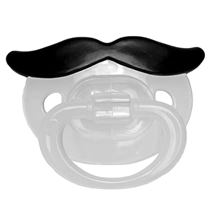 Chupete de niño con divertido bigote Niños Pequeños Gag ...