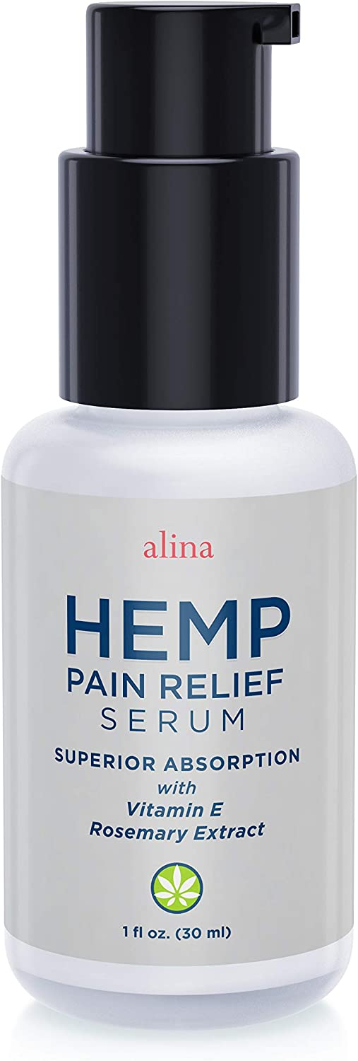 Hemp Pain Relief Serum-Pharmaceutical Grade Concentrated serum for Muscle & Joint Pain, Shoulder & Knee Pain, Arthritis, Carpal Tunnel Relief and Back Pain.