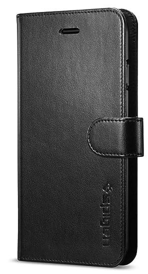 new arrival ece86 f9eaa Spigen Wallet S Case Designed for iPhone 7 - Black 042CS20545