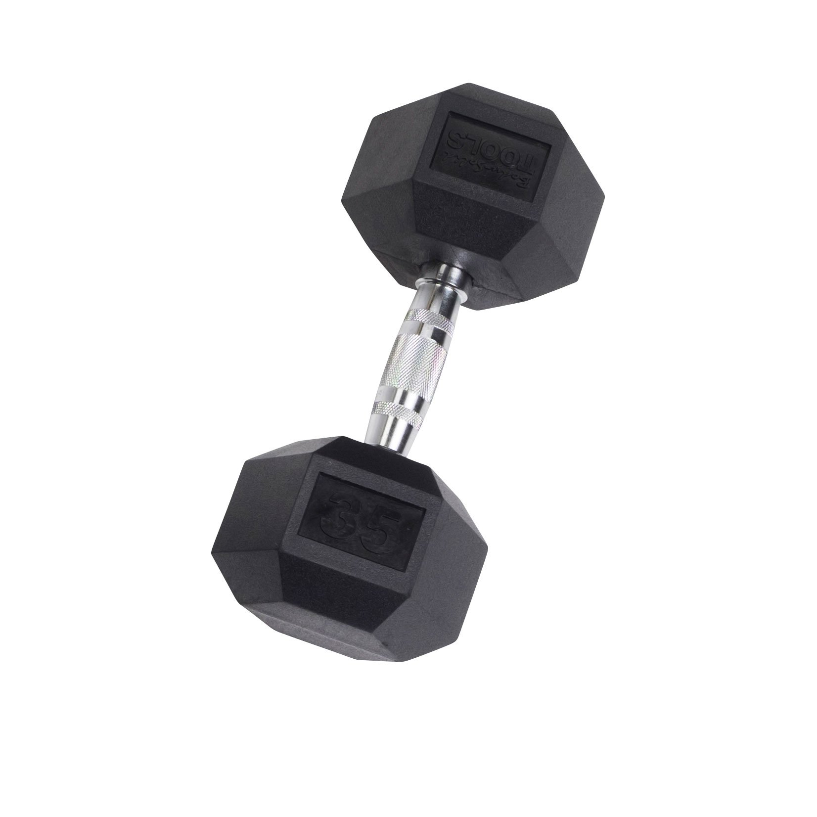 Rubber Coated Hex Dumbbell 35 lb.