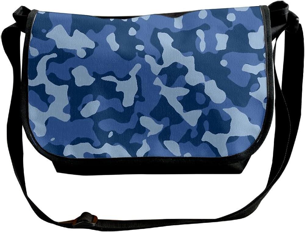 Camouflage Blue Handbag Crossbody Bags For Women Sling Shoulder Messenger