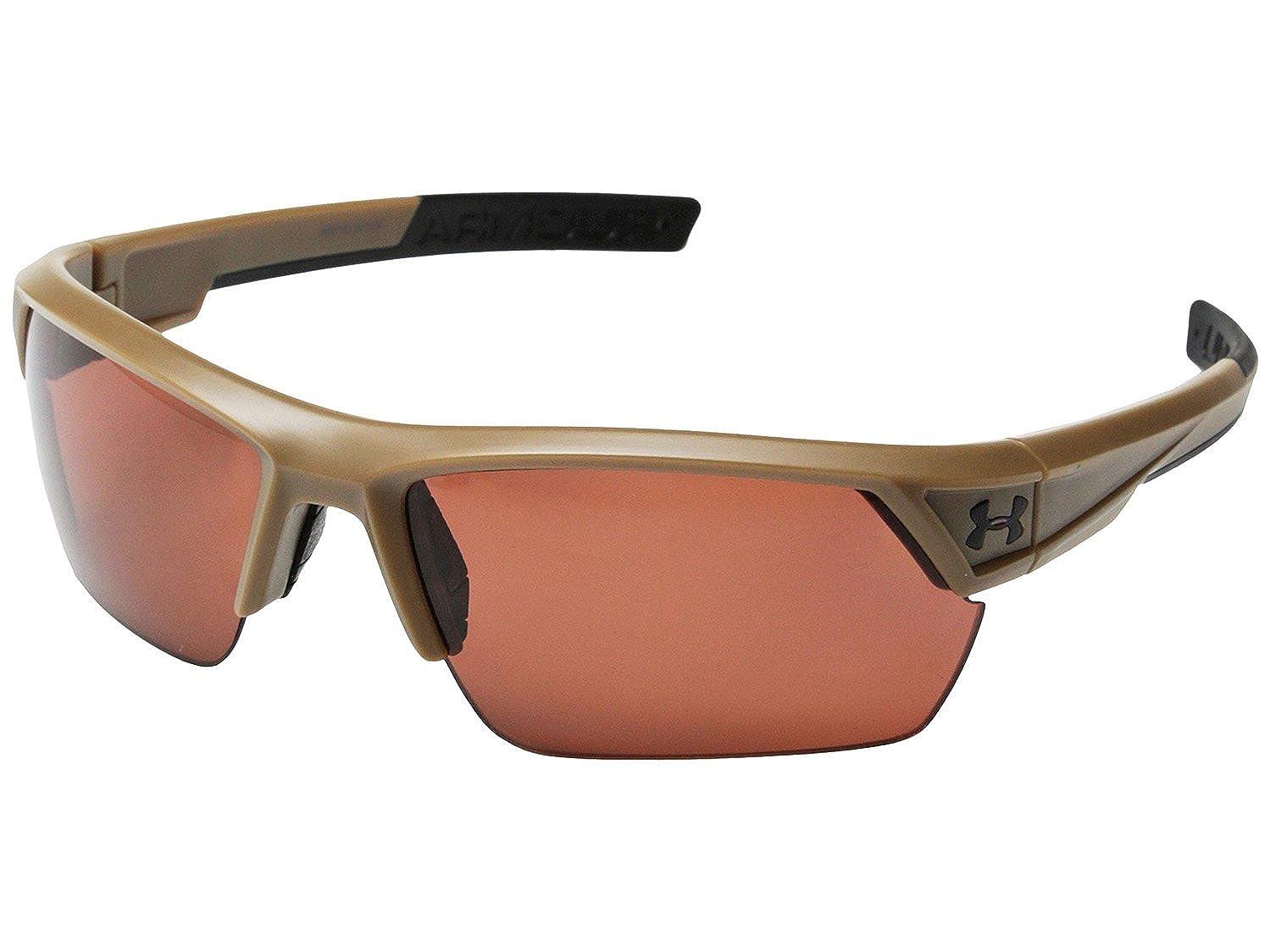 33a17c278cc5 Under Armour UA Igniter 2.0 Polarized Sunglasses Satin Brown, Brown  Multiflection Storm ANSI Z87.1: Amazon.co.uk: Clothing