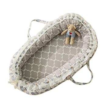 Lounging Napping and Travel Baby Lounger Nest Bassinet for Bed Weixinbuy Breathable and Portable Baby Nest Bassinet Co-Sleeping Crib Cradles Perfect for Cuddling Washable