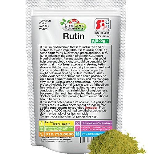 500g (1.1 lb)100% Pure Rutin Powder by Lifeline Nutrients