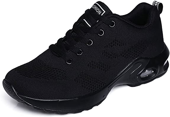 all black running shoes 5.5