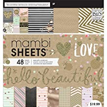 Me and My BIG Ideas PADX-272 Gold Rush Mambi Sheets, 12 by 12-Inch