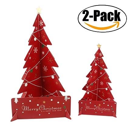 3d Paper Christmas Tree.Amazon Com 2 Pack Christmas Centerpiece Outgeek Mini 3d