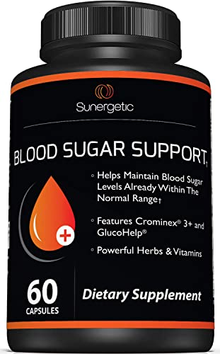 Premium Blood Sugar Support Supplement Helps Support Healthy Blood Sugar Glucose Levels Includes Bitter Melon Extract, Vanadium, Chromium, Cinnamon, Alpha Lipoic Acid 60 Capsules