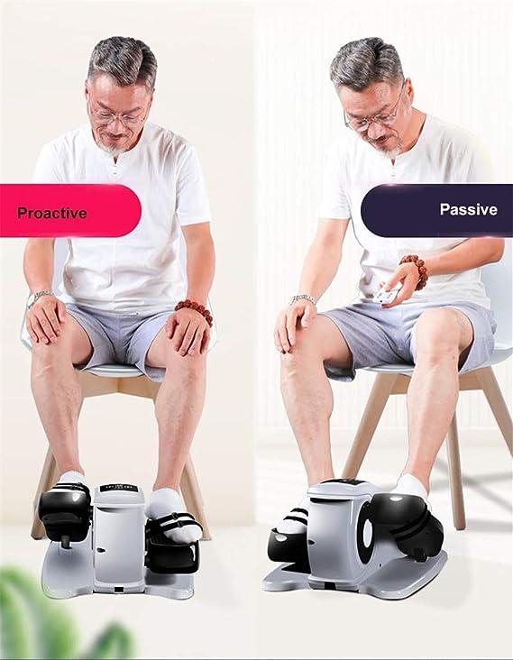 Ejercitador de pedal eléctrico para personas mayores, mini bicicleta estacionaria para brazo, rodilla y pierna, control remoto/táctil, gimnasio portátil para el hogar y la oficina: Amazon.es: Salud y cuidado personal