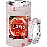 3M スリーエム スコッチ 超透明テープS 10巻 工業用包装 15mm×35m 芯76mm BK-15N