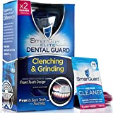 Dental Guard SMARTGUARD ELITE Plus 60 days of Cleaning Crystals (2 Guards 1 case) Custom Anti Teeth grinding night guard for clenching. TMJ Dentist Designed - bruxing splint mouth protector for relief