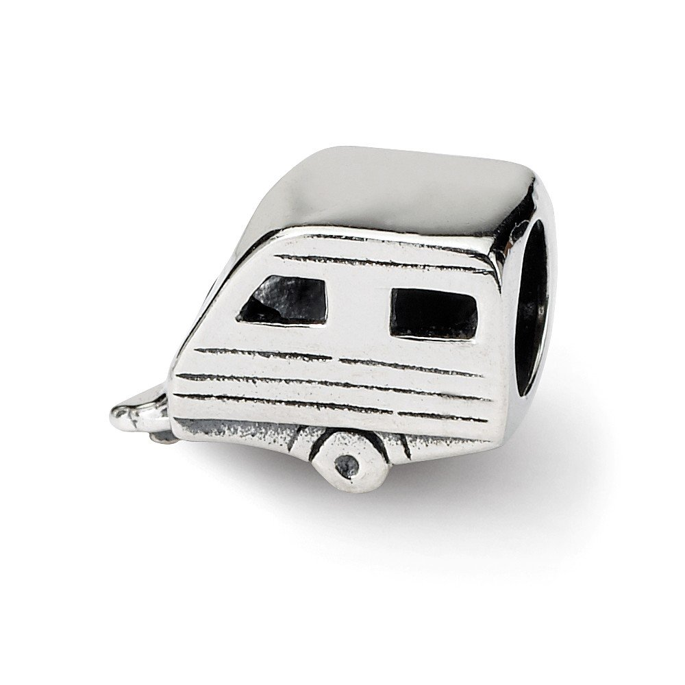 Reflection Beads Sterling Silver Trailer Bead 8 x 11 mm