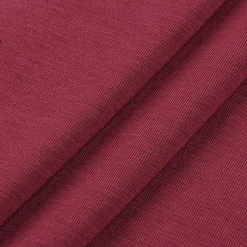 Tasca Weant Nero Grigio Vino Donna Magliette Felpe Shirt Elegante Donna T Donna Rosso Donna Maglia Donna Top Rosso Donna Blusa Cappuccio Magliette Camicia Cotone Tumblr Sexy Prospettiva Maglia gqwrFCgB