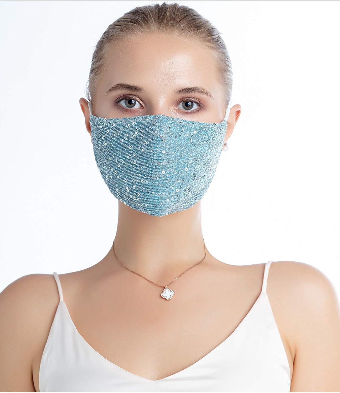 Transpirable moda m/áscara//revestimientos M/áscara facial con lentejuelas brillantes y de calidad premium eBoutik ideal para pubs//clubes//fiestas