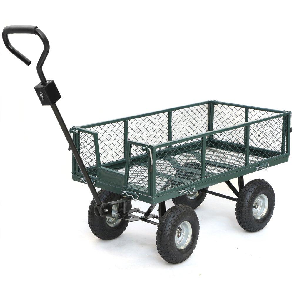 High Quality Amazon.com : Yaheetech Steel Crate Wagon Garden Cart Trailer Yard Gardening  Patio 800 Lbs Load Capacity : Garden U0026 Outdoor