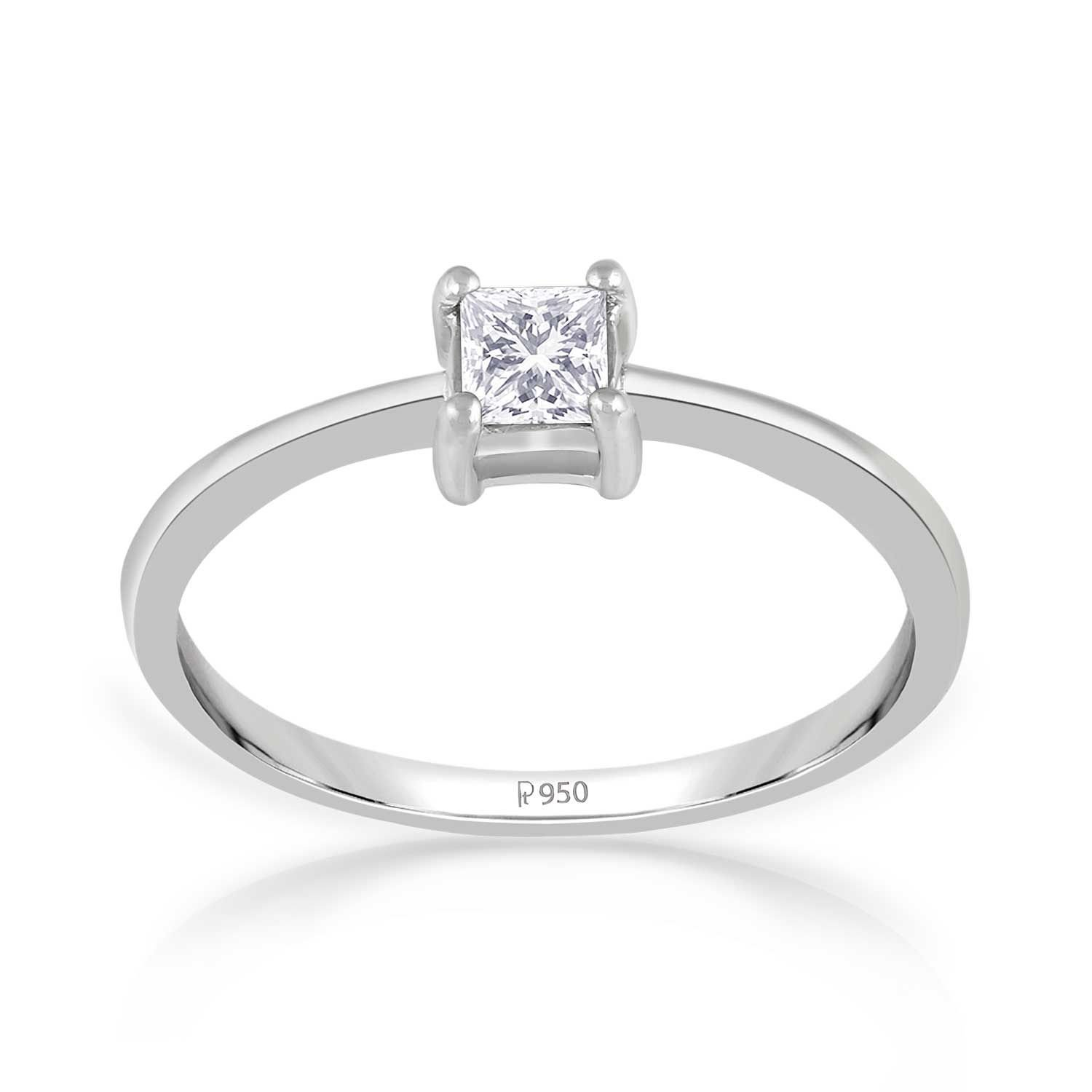 5898c7e262279 Buy Malabar Gold and Diamonds 950 Platinum Ring for Women Online at ...